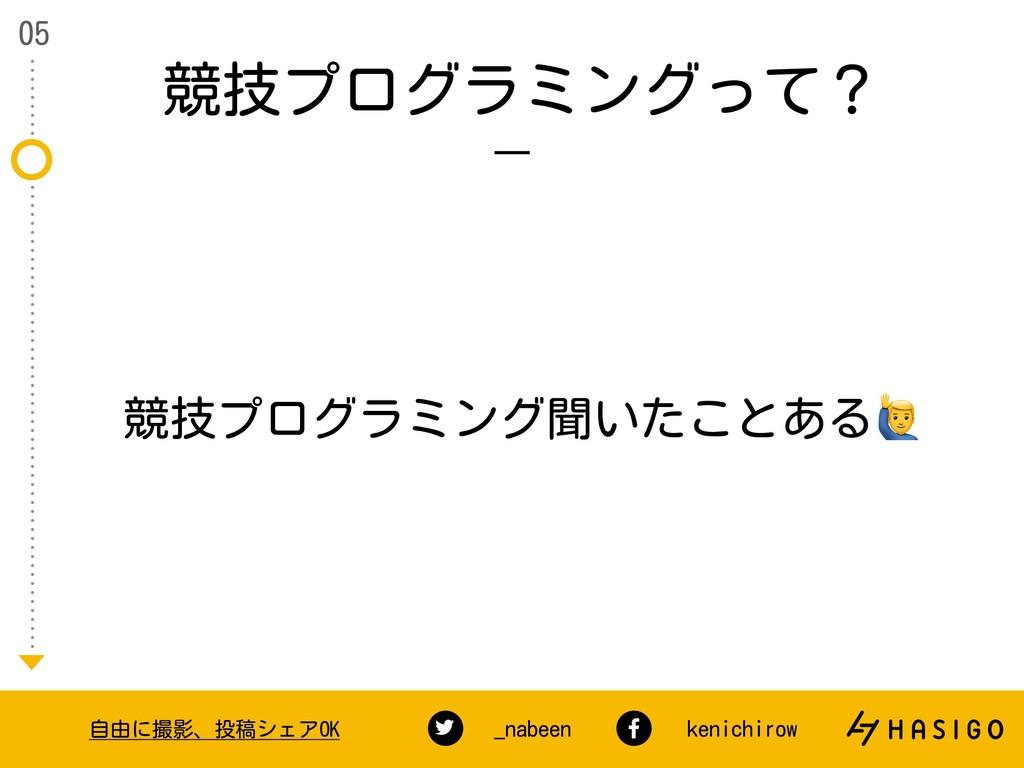 競技プログラミングって? 05 自由に撮影、投稿シェアOK _nabeen kenichiro...