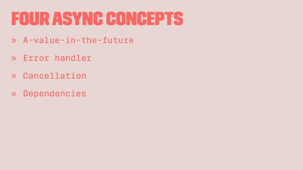 Four async concepts » A-value-in-the-future » E...