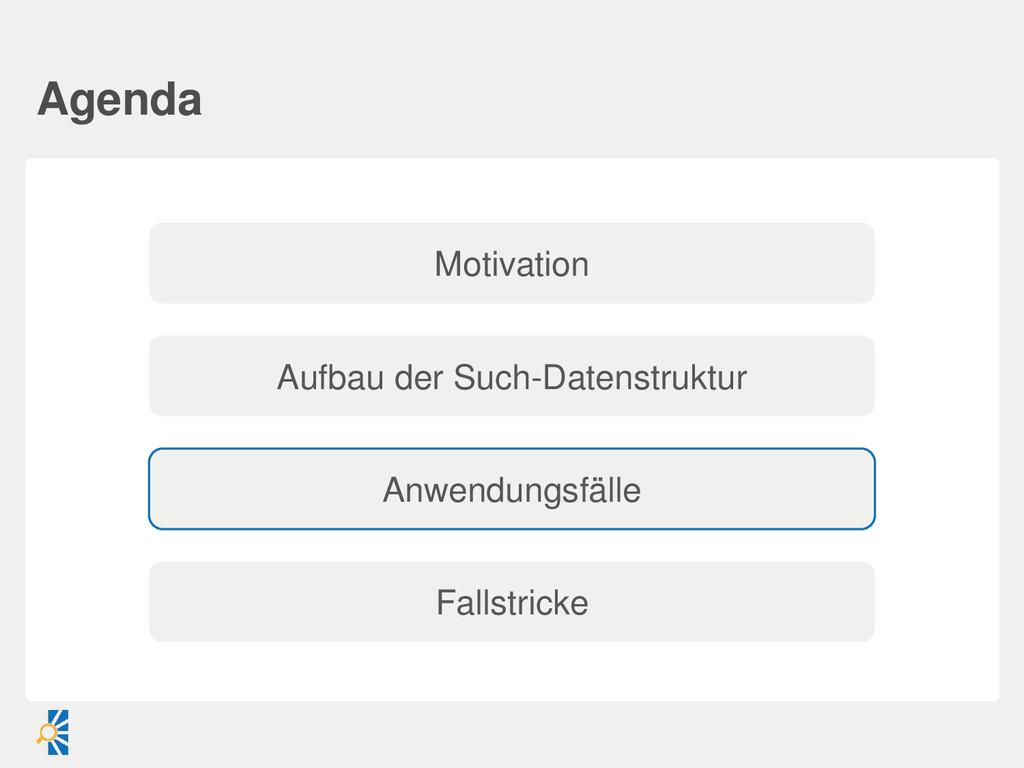 Agenda Anwendungsfälle Aufbau der Such-Datenstr...