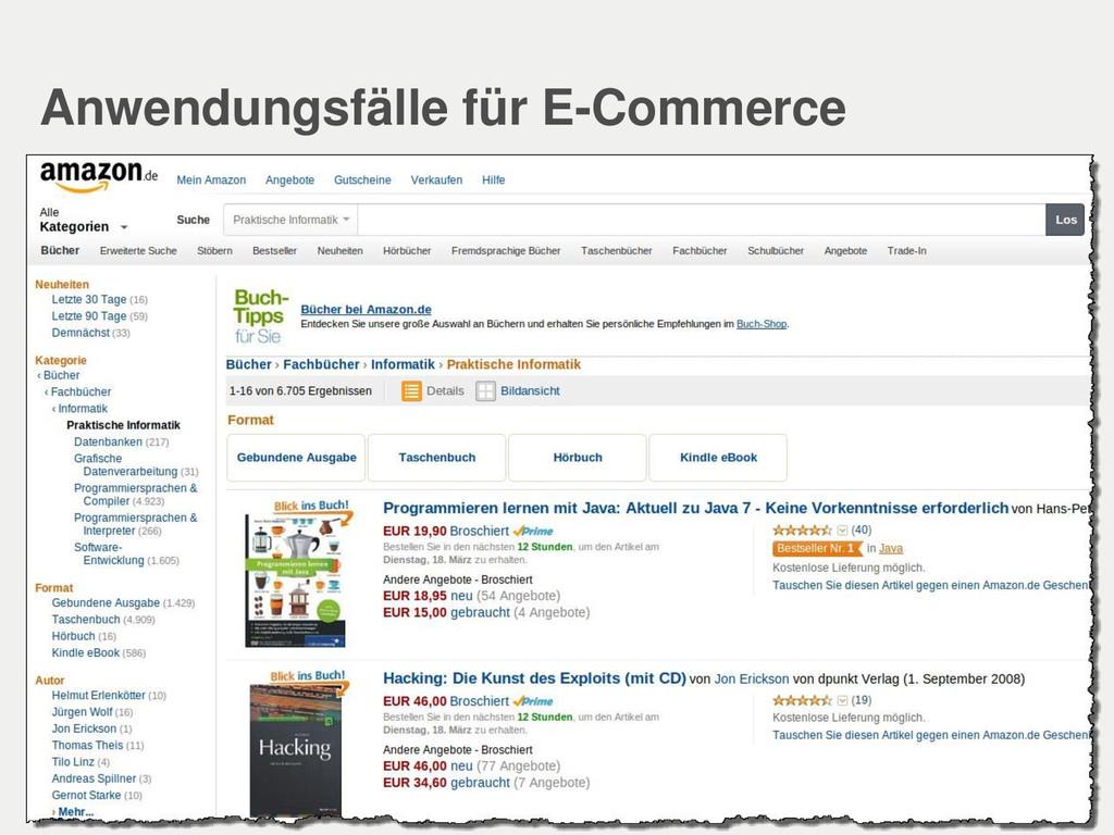 Anwendungsfälle für E-Commerce