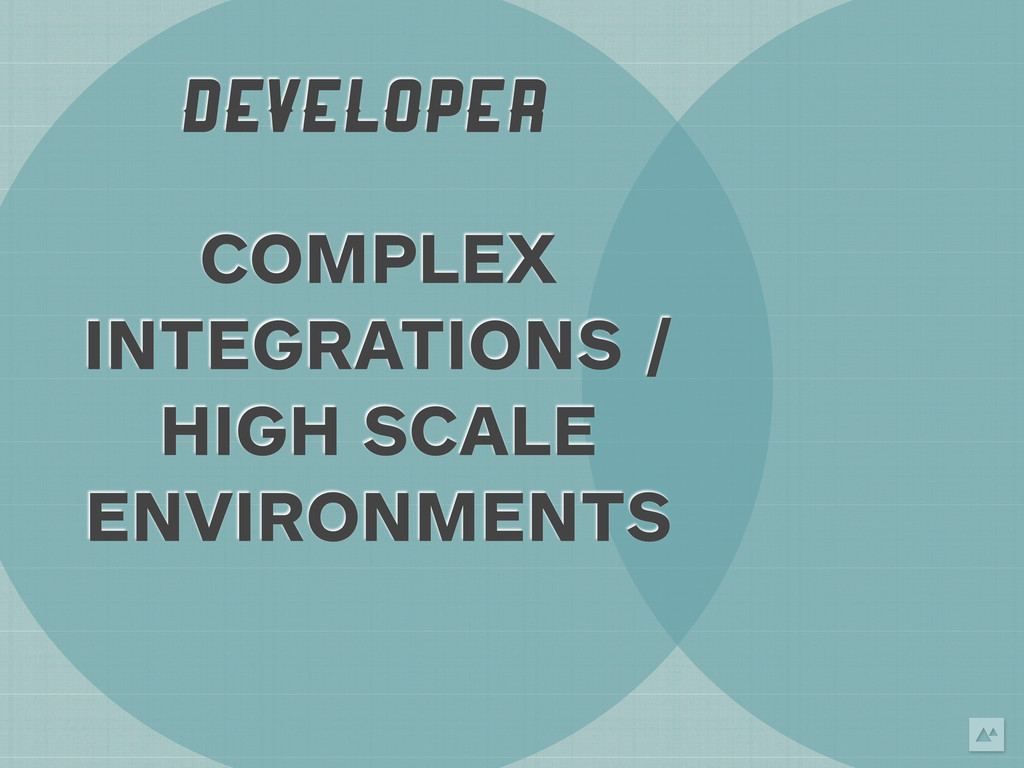 DEVELOPER COMPLEX INTEGRATIONS / HIGH SCALE ENV...