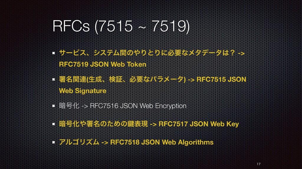 RFCs (7515 ~ 7519) αʔϏεɺγεςϜؒͷΓͱΓʹඞཁͳϝλσʔλʁ -...