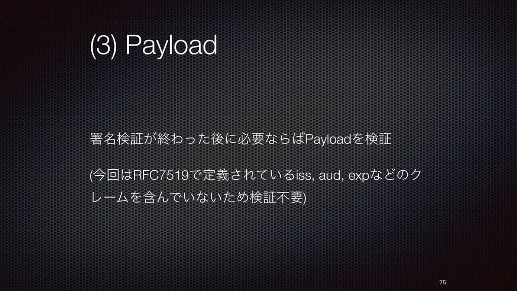 (3) Payload ॺ໊ݕূ͕ऴΘͬͨޙʹඞཁͳΒPayloadΛݕূ (ࠓճRFC7...