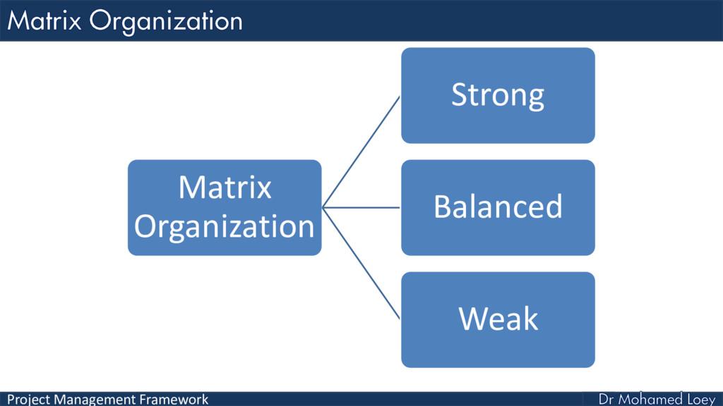 Project Management Framework Matrix Organizatio...
