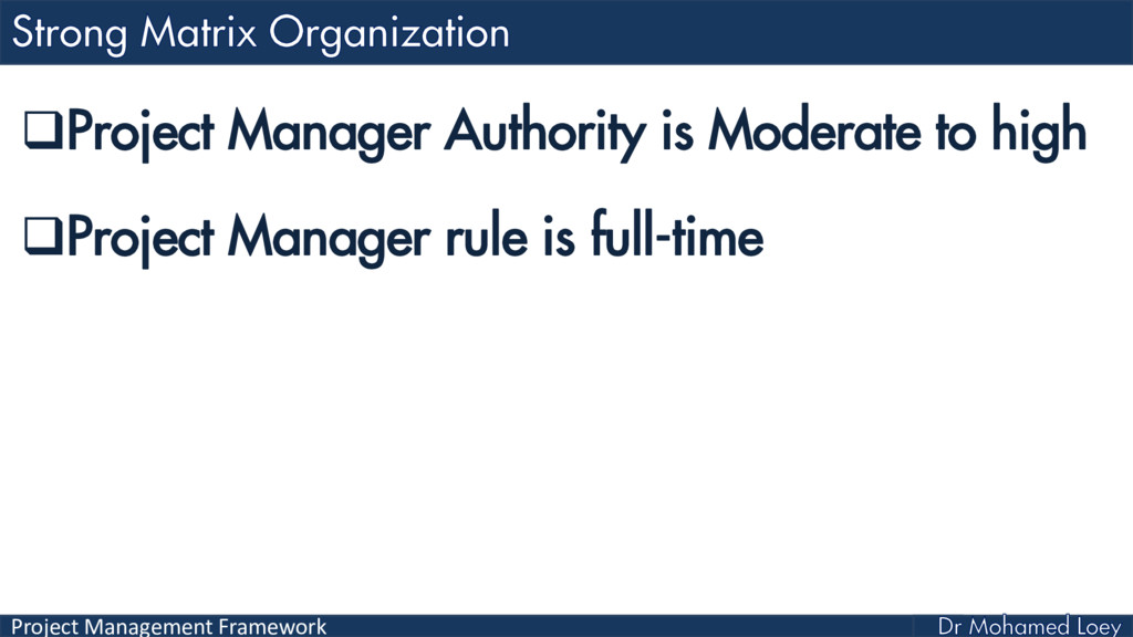 Project Management Framework Project Manager A...