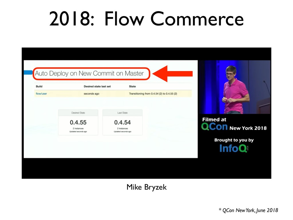 2018: Flow Commerce * QCon New York, June 2018 ...