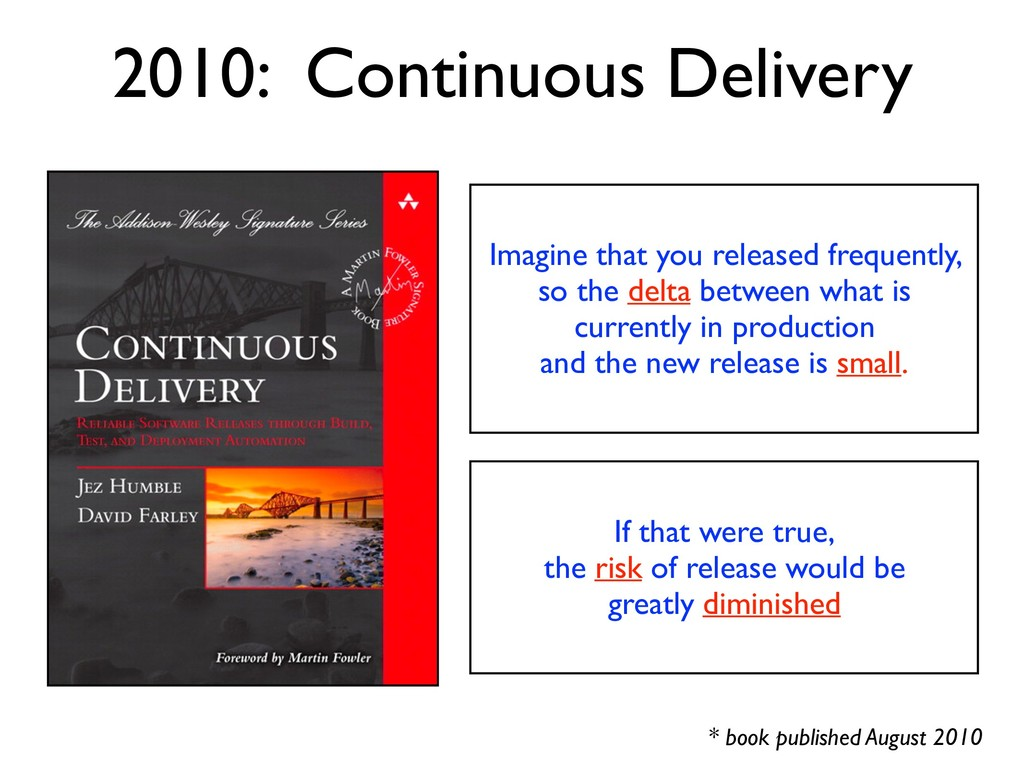 * book published August 2010 2010: Continuous D...