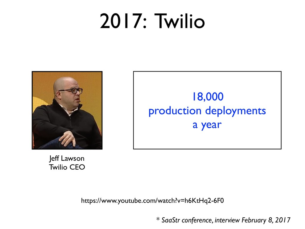 18,000 production deployments a year 2017: Twil...