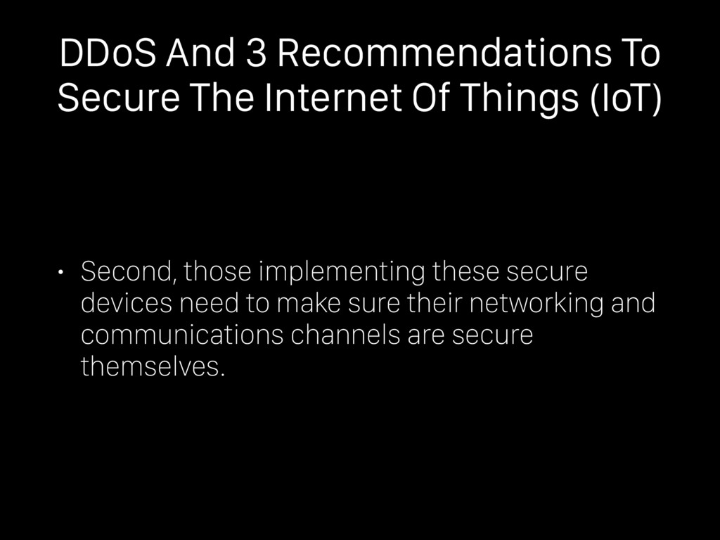 DDoS And 3 Recommendations To Secure The Intern...