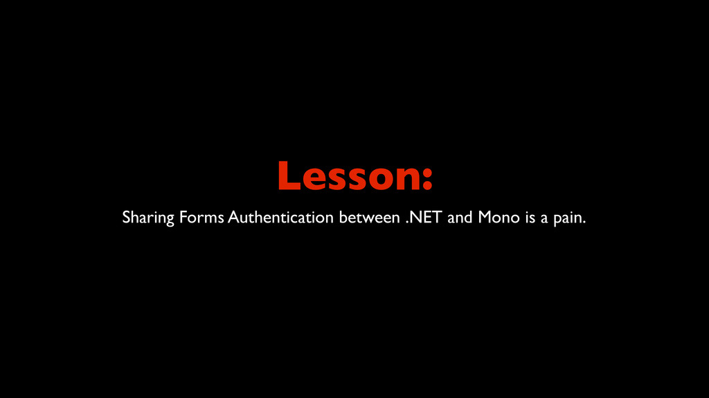 Lesson: Sharing Forms Authentication between .N...