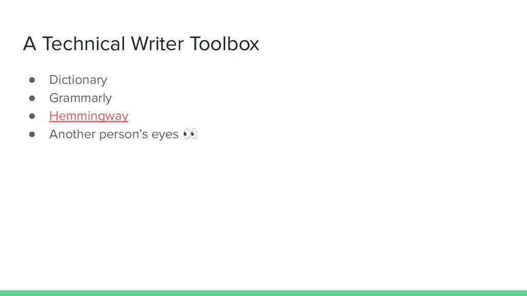 A Technical Writer Toolbox ● Dictionary ● Gramm...