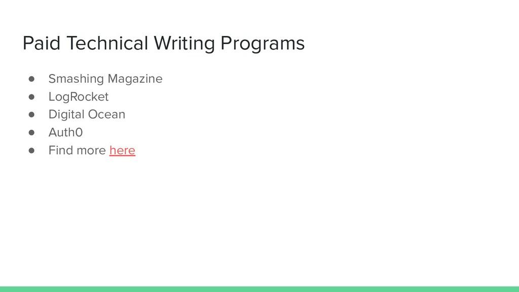 Paid Technical Writing Programs ● Smashing Maga...