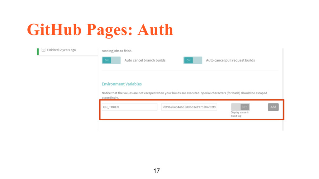GitHub Pages: Auth 17