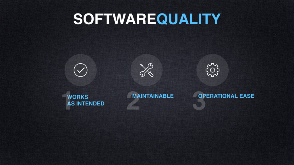 SOFTWAREQUALITY WORKS AS INTENDED 1 MAINTAINABL...