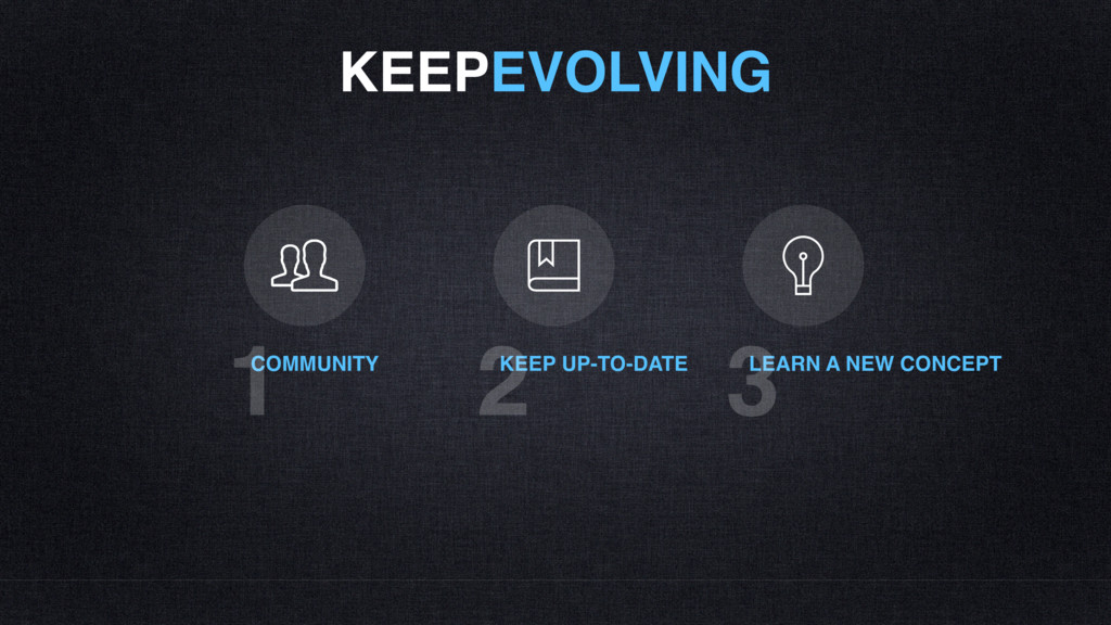 KEEPEVOLVING COMMUNITY 1 KEEP UP-TO-DATE 2 LEAR...