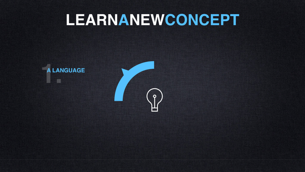 LEARNANEWCONCEPT 1. A LANGUAGE