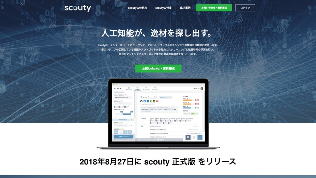 20188݄27ʹ scouty ਖ਼ࣜ൛ ΛϦϦʔε