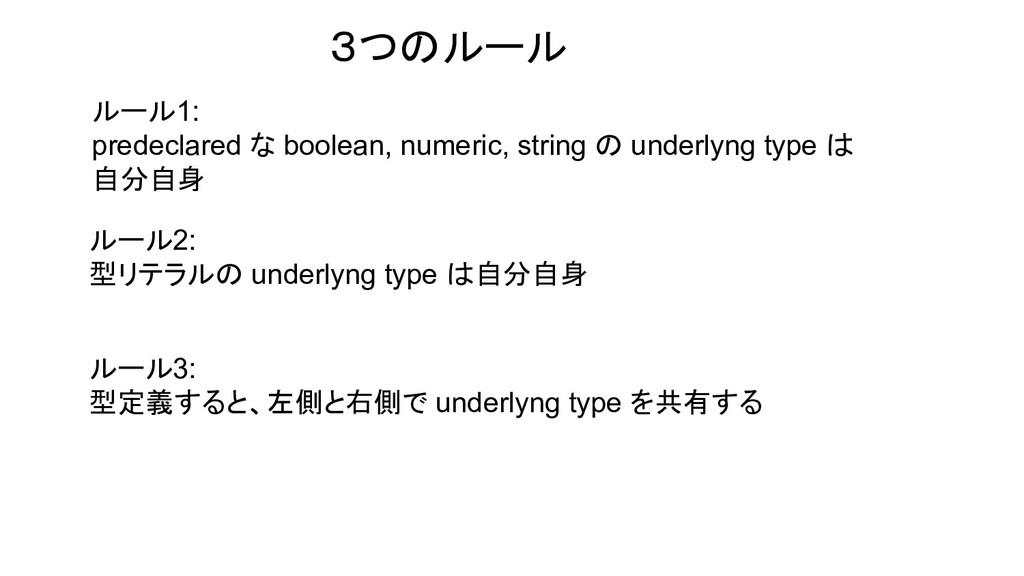 ルール1: predeclared な boolean, numeric, string の ...