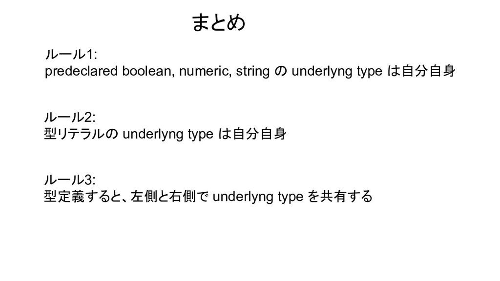 ルール1: predeclared boolean, numeric, string の un...