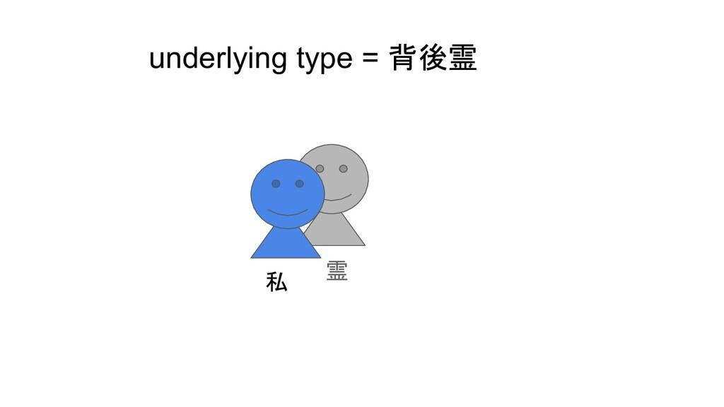 underlying type = 背後霊 私 霊