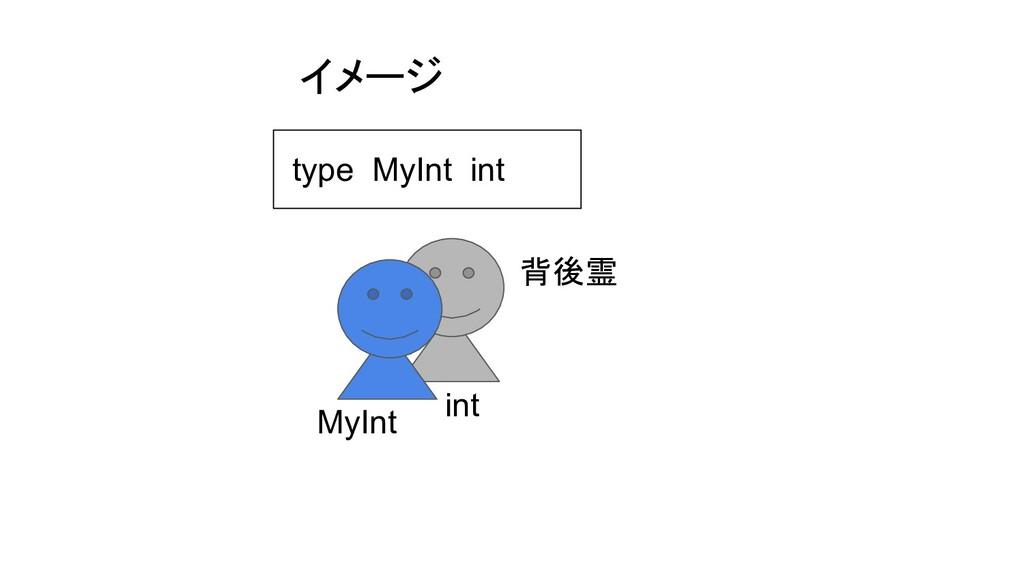 イメージ 背後霊 MyInt int type MyInt int