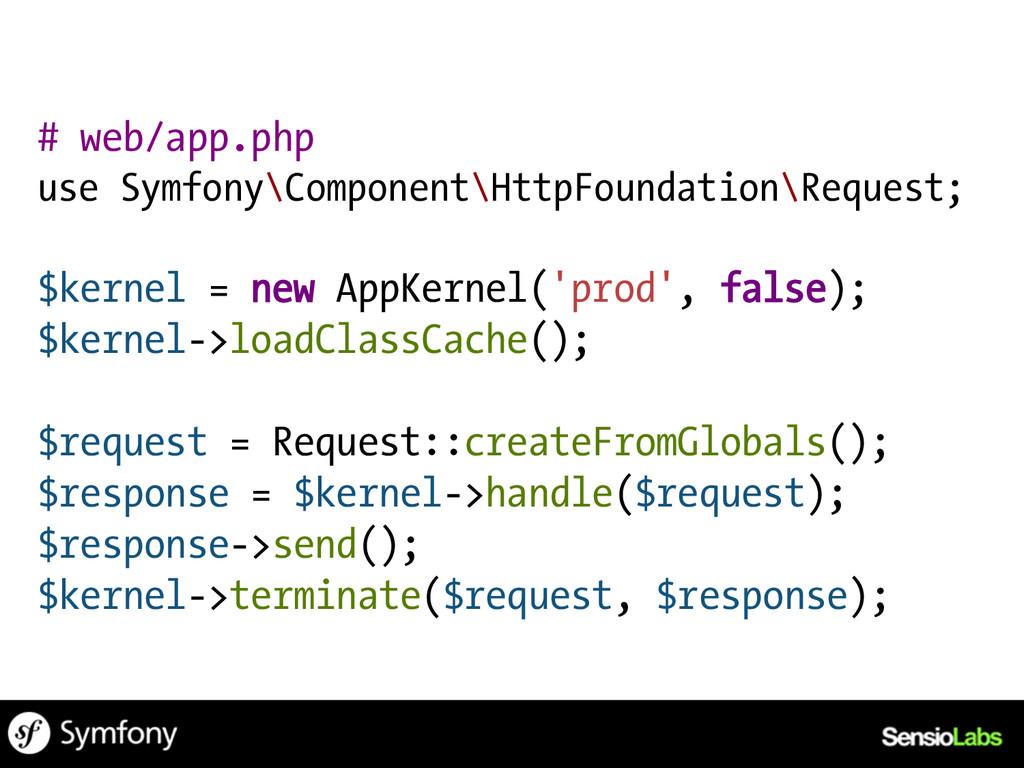 # web/app.php use Symfony\Component\HttpFoundat...