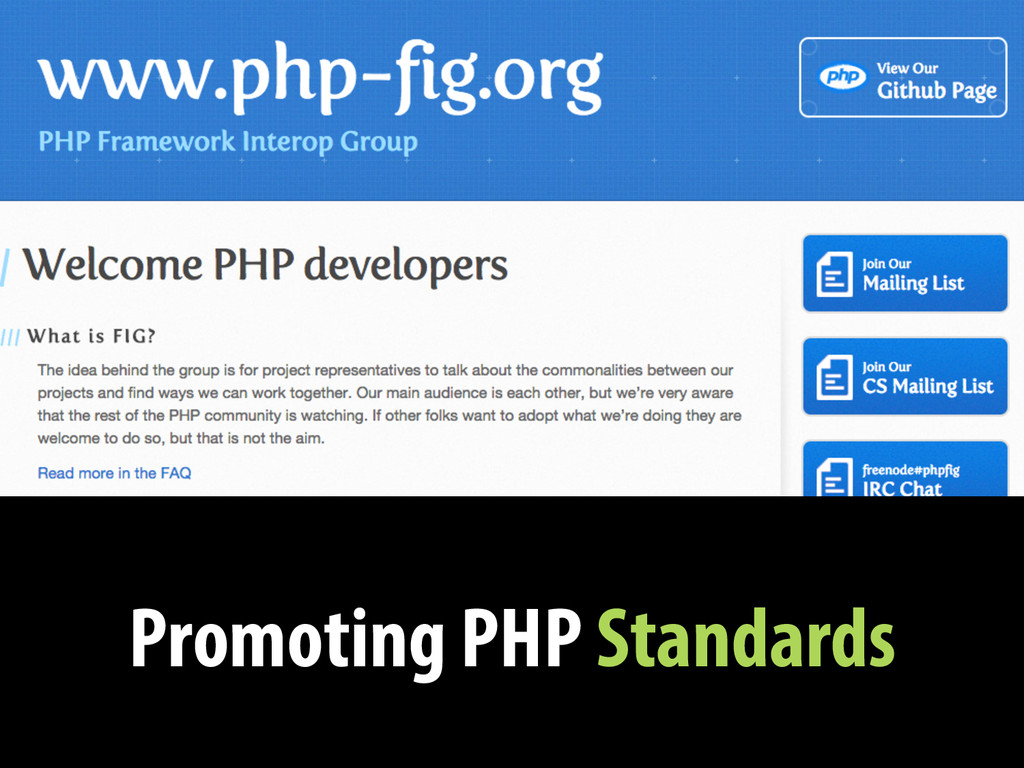 Promoting PHP Standards