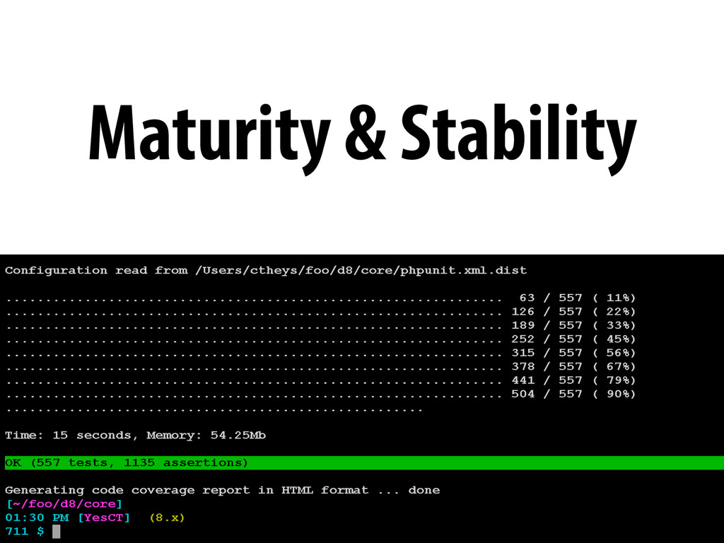 Maturity & Stability