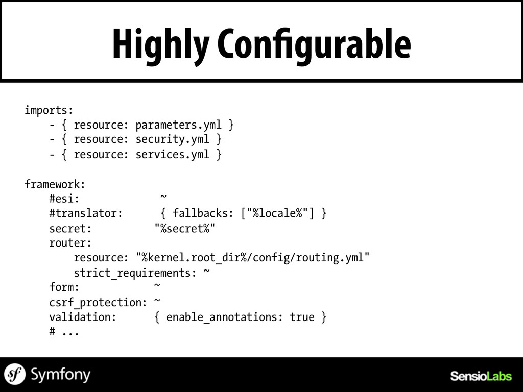 Highly Configurable imports: - { resource: para...