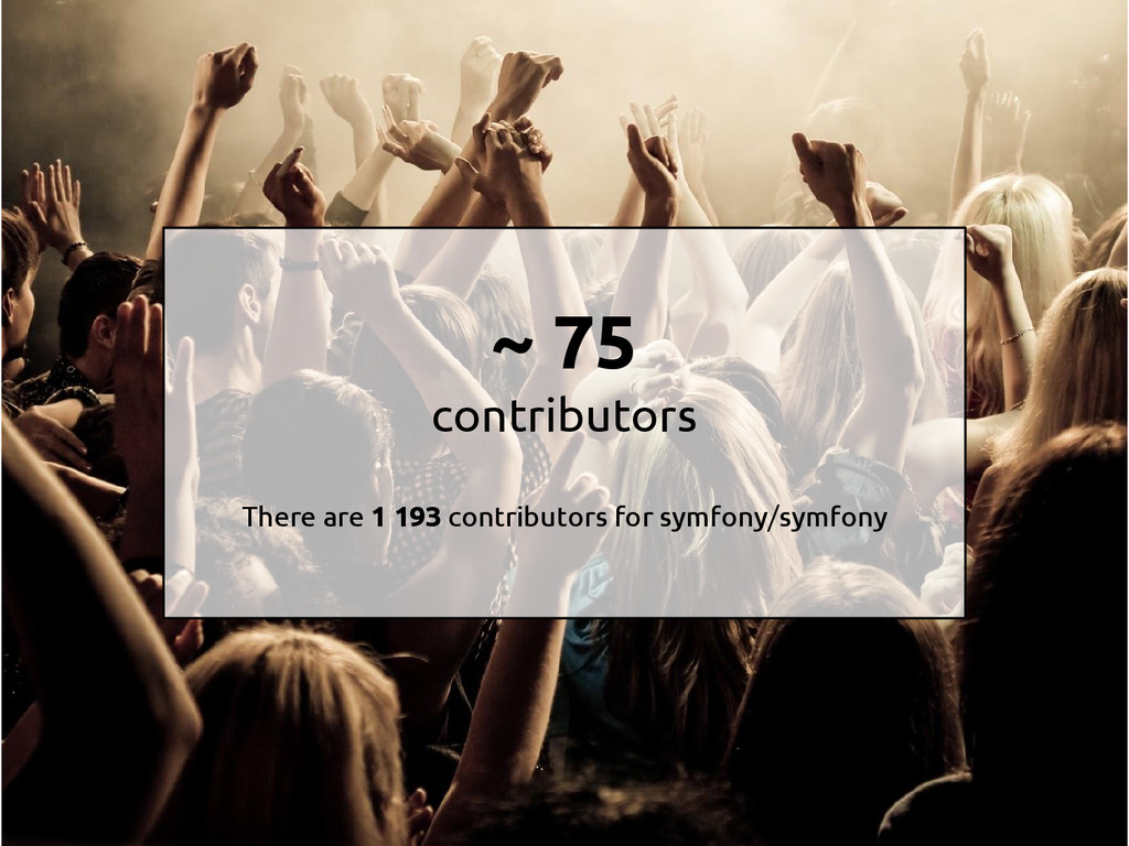 ~ 75 contributors There are 1 193 contributors ...