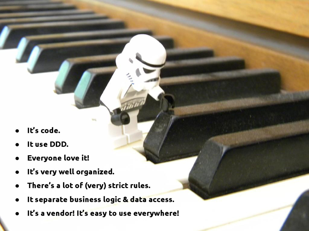 ● It's code. ● It use DDD. ● Everyone love it! ...