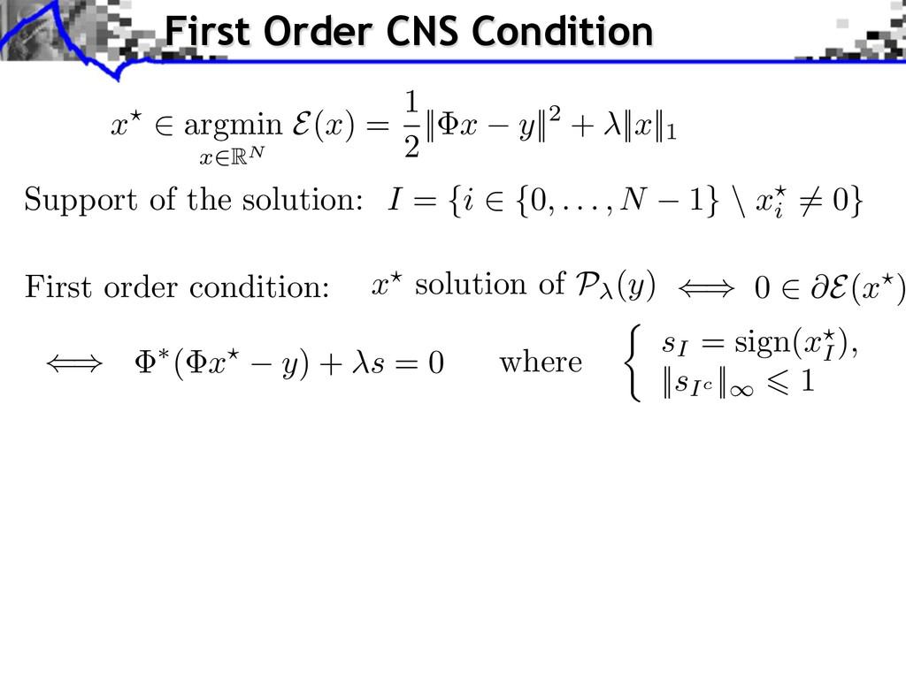 0 E(x ) I = {i ⇥ {0, . . . , N 1} \ xi ⇤= 0} Su...