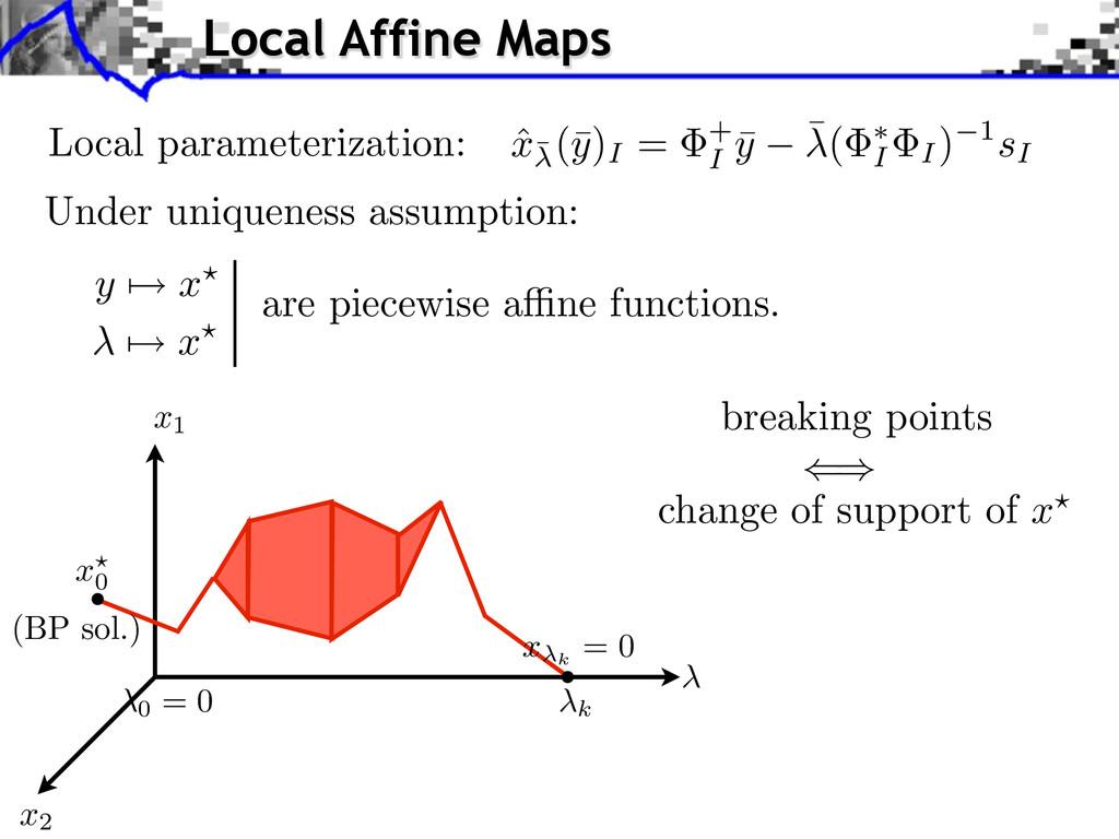 Local parameterization: y x x Under uniqueness ...