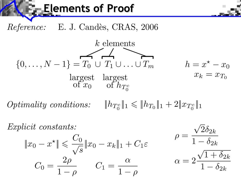 ||hT c 0 ||1 ||hT0 ||1 + 2||xT c 0 ||1 Optimali...