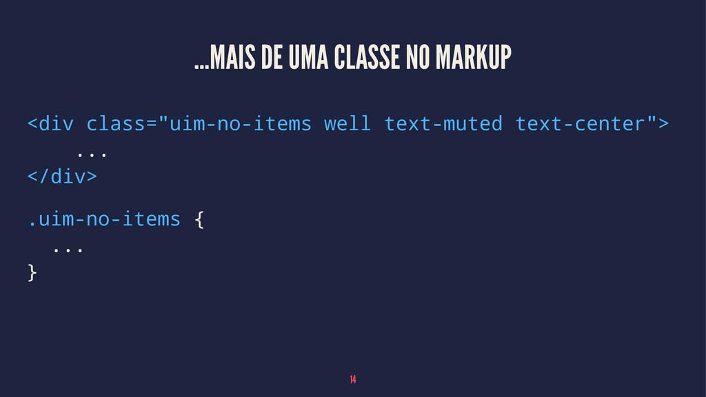 """...MAIS DE UMA CLASSE NO MARKUP <div class=""""uim..."""