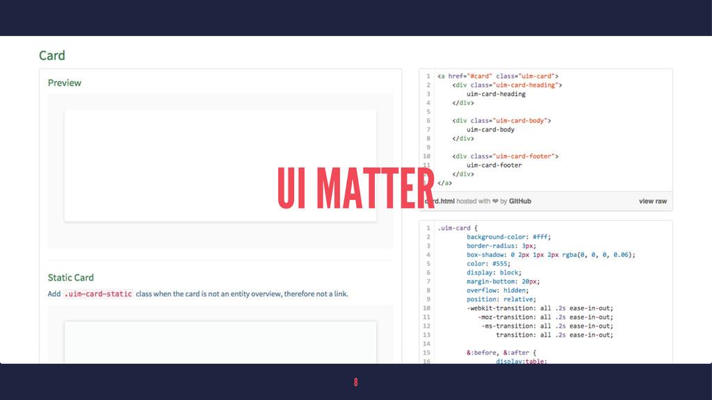 UI MATTER 8