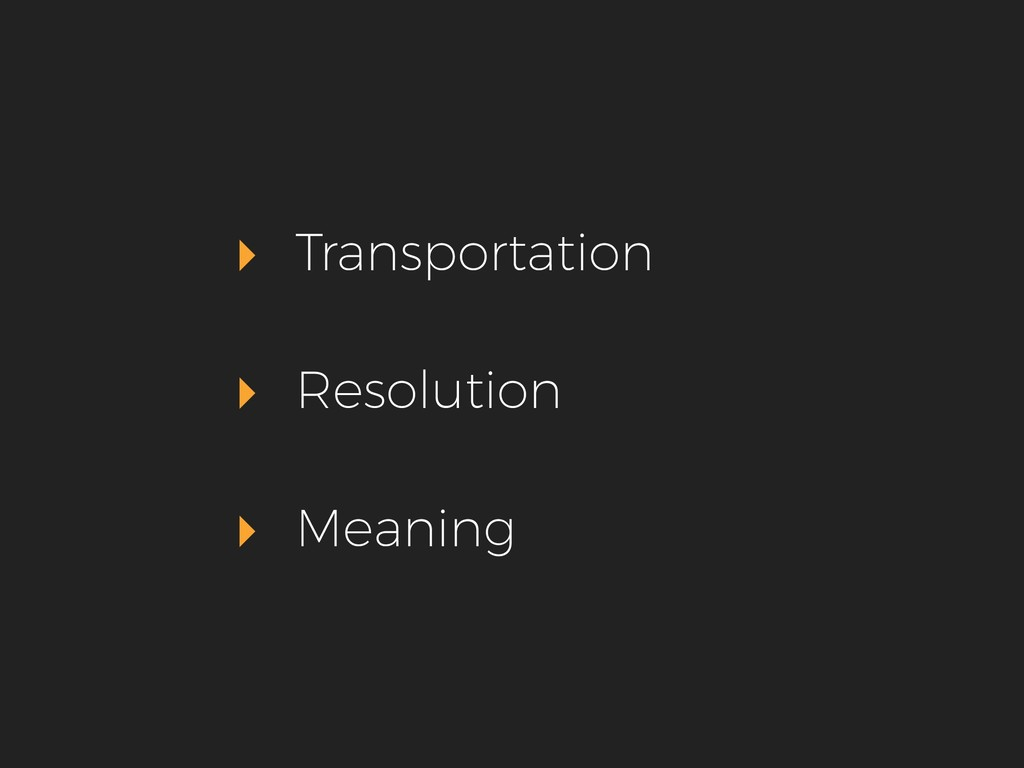 ▸ Transportation ▸ Resolution ▸ Meaning