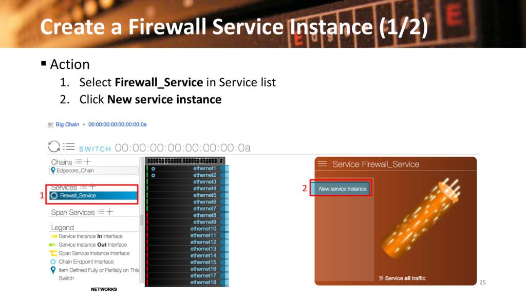 Create a Firewall Service Instance (1/2) 25 © 2...