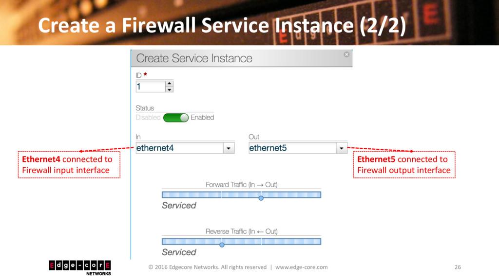 Create a Firewall Service Instance (2/2) 26 © 2...