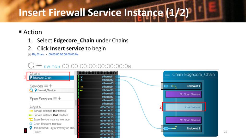 Insert Firewall Service Instance (1/2) 29 © 201...