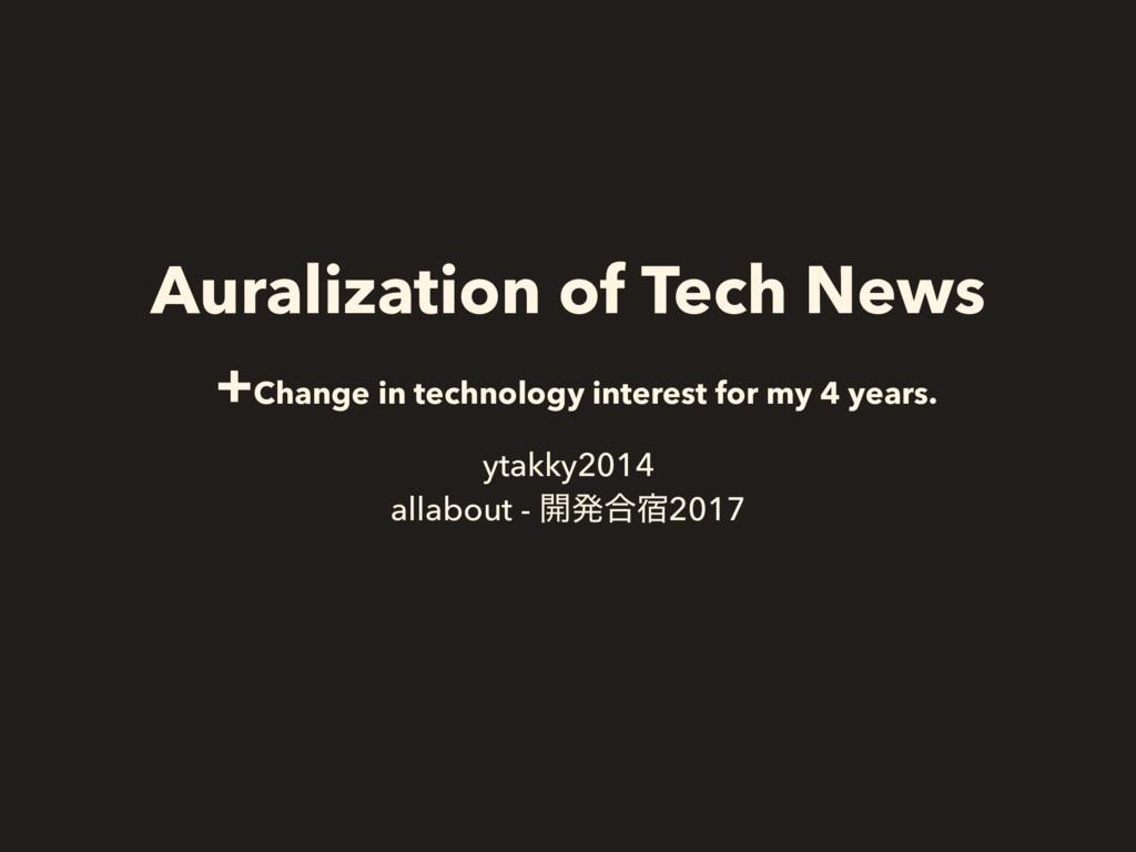 Auralization of Tech News +Change in technology...