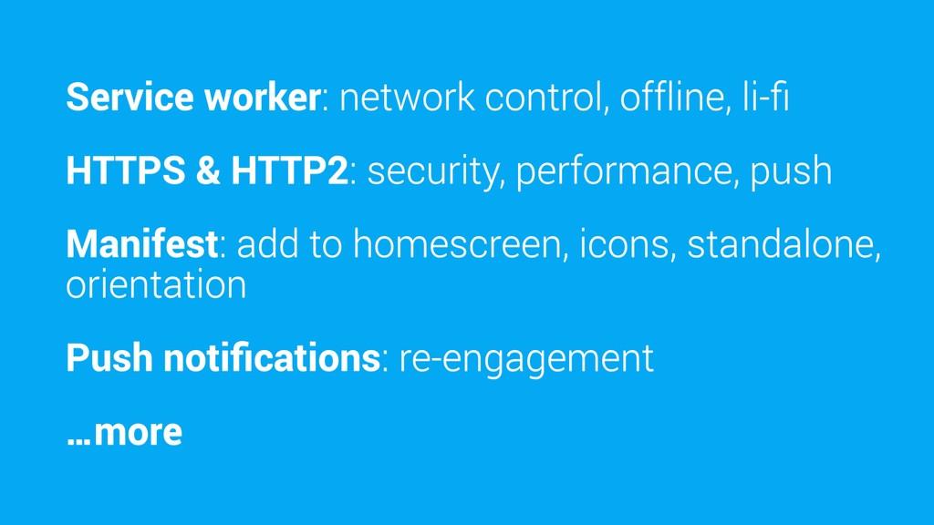 Service worker: network control, offline, li-fi ...