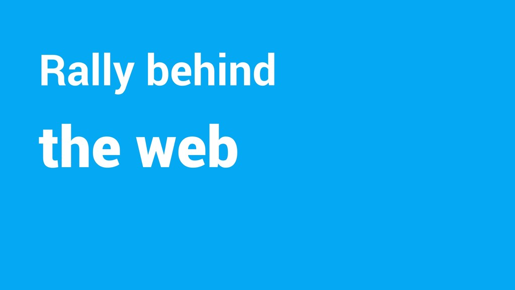 the web Rally behind