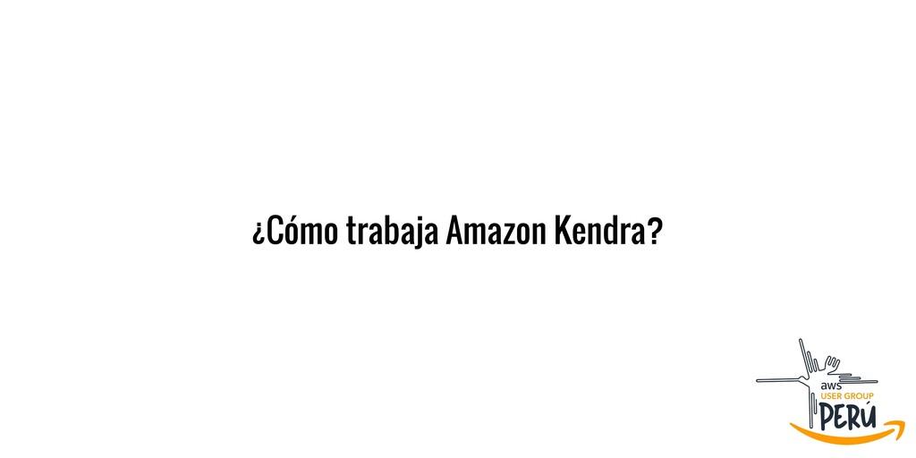 ¿Cómo trabaja Amazon Kendra?