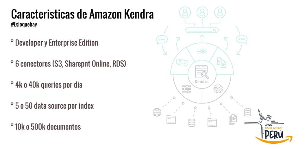 Caracteristicas de Amazon Kendra  #Esloquehay °...