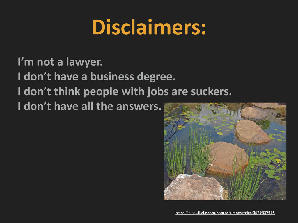 Disclaimers:   I'm not a lawyer....