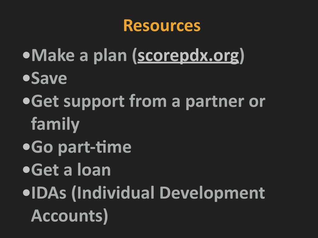 Resources •Make a plan (scorepdx.org)...