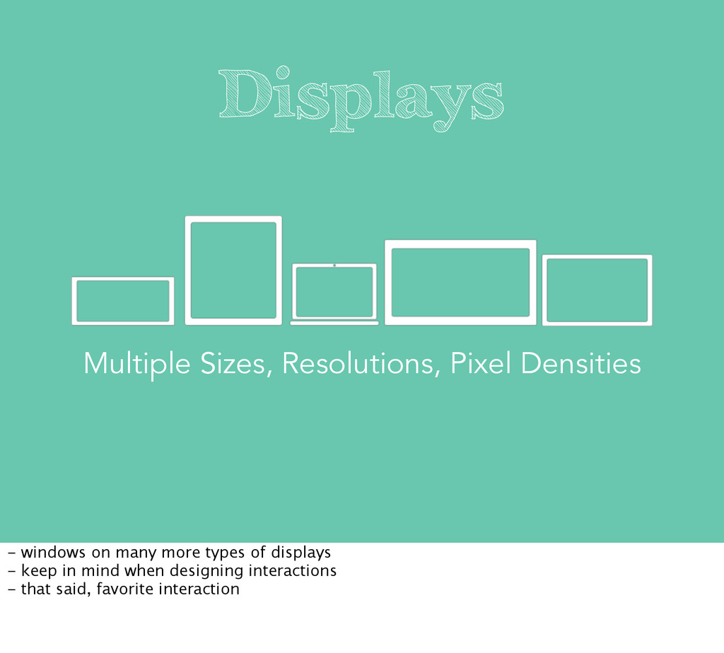 Displays Multiple Sizes, Resolutions, Pixel Den...