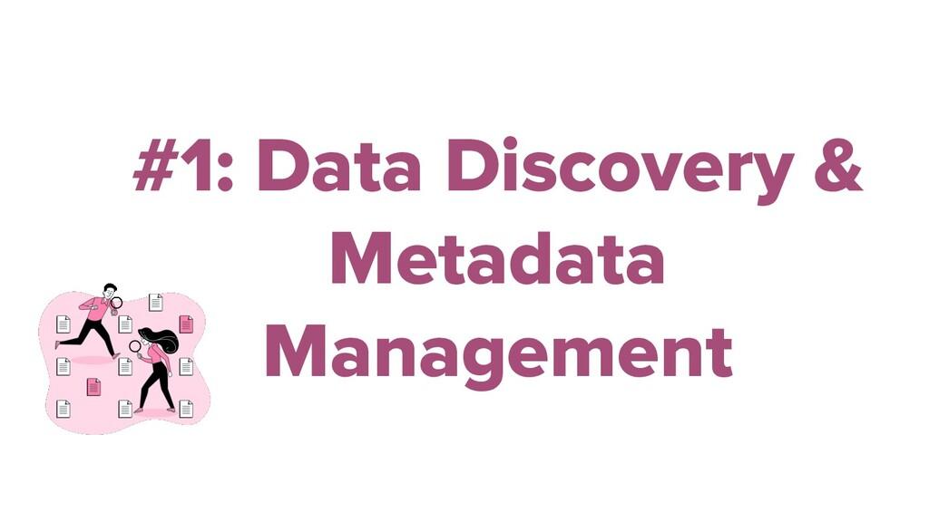 #1: Data Discovery & Metadata Management