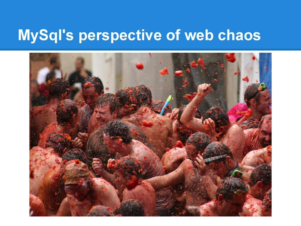 MySql's perspective of web chaos